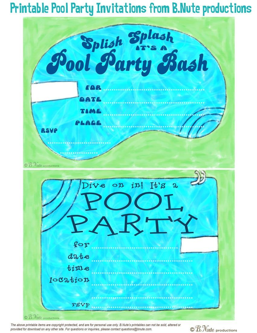 000 Marvelou Pool Party Invitation Template Free Design  Downloadable Printable SwimmingFull