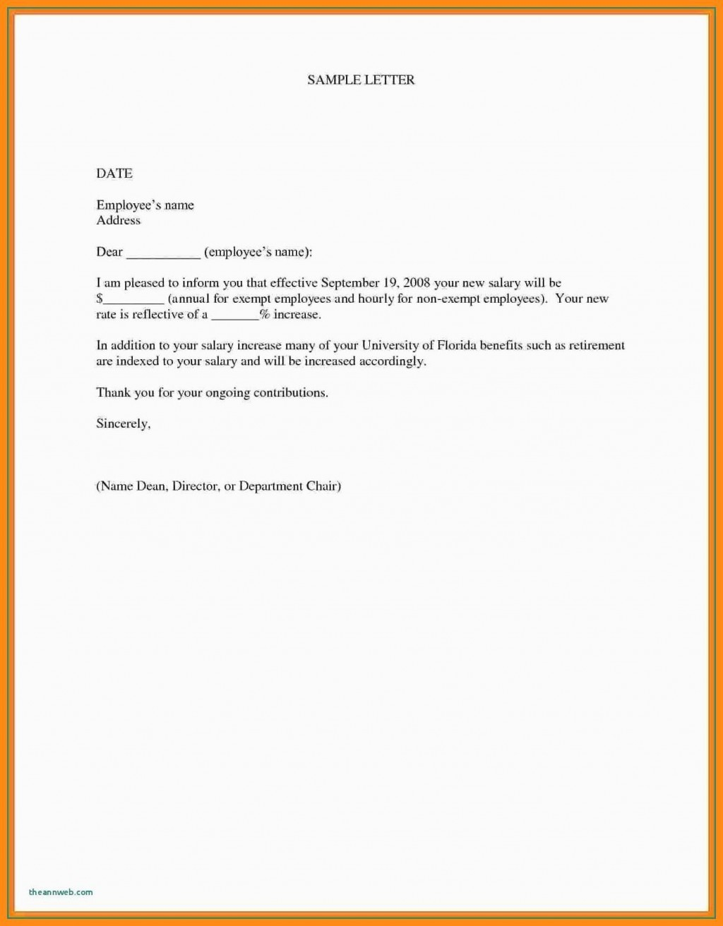 000 Marvelou Salary Increase Letter Template Design  From Employer To Employee Australia No ForLarge
