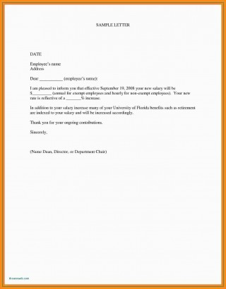 000 Marvelou Salary Increase Letter Template Design  From Employer To Employee Australia No For320