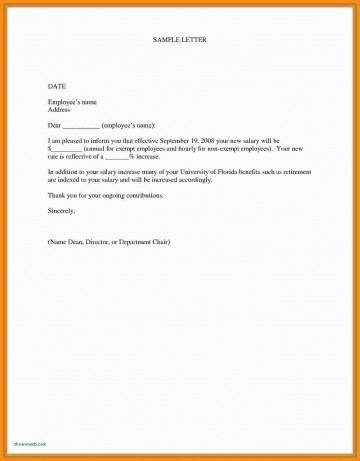 000 Marvelou Salary Increase Letter Template Design  From Employer To Employee Australia No For360