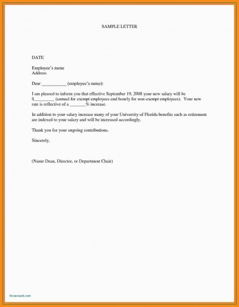 000 Marvelou Salary Increase Letter Template Design  From Employer To Employee Australia No For480