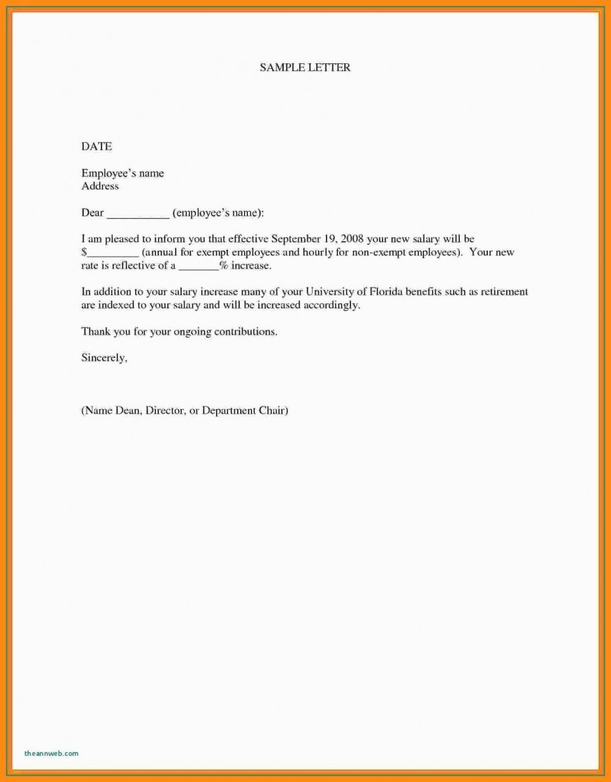 000 Marvelou Salary Increase Letter Template Design  From Employer To Employee Australia No For868
