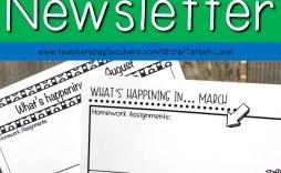 000 Marvelou School Newsletter Template Free Design  Elementary For Microsoft Word