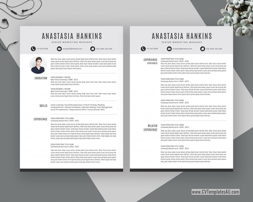 000 Marvelou Simple Professional Cv Template Word Highest Quality Large