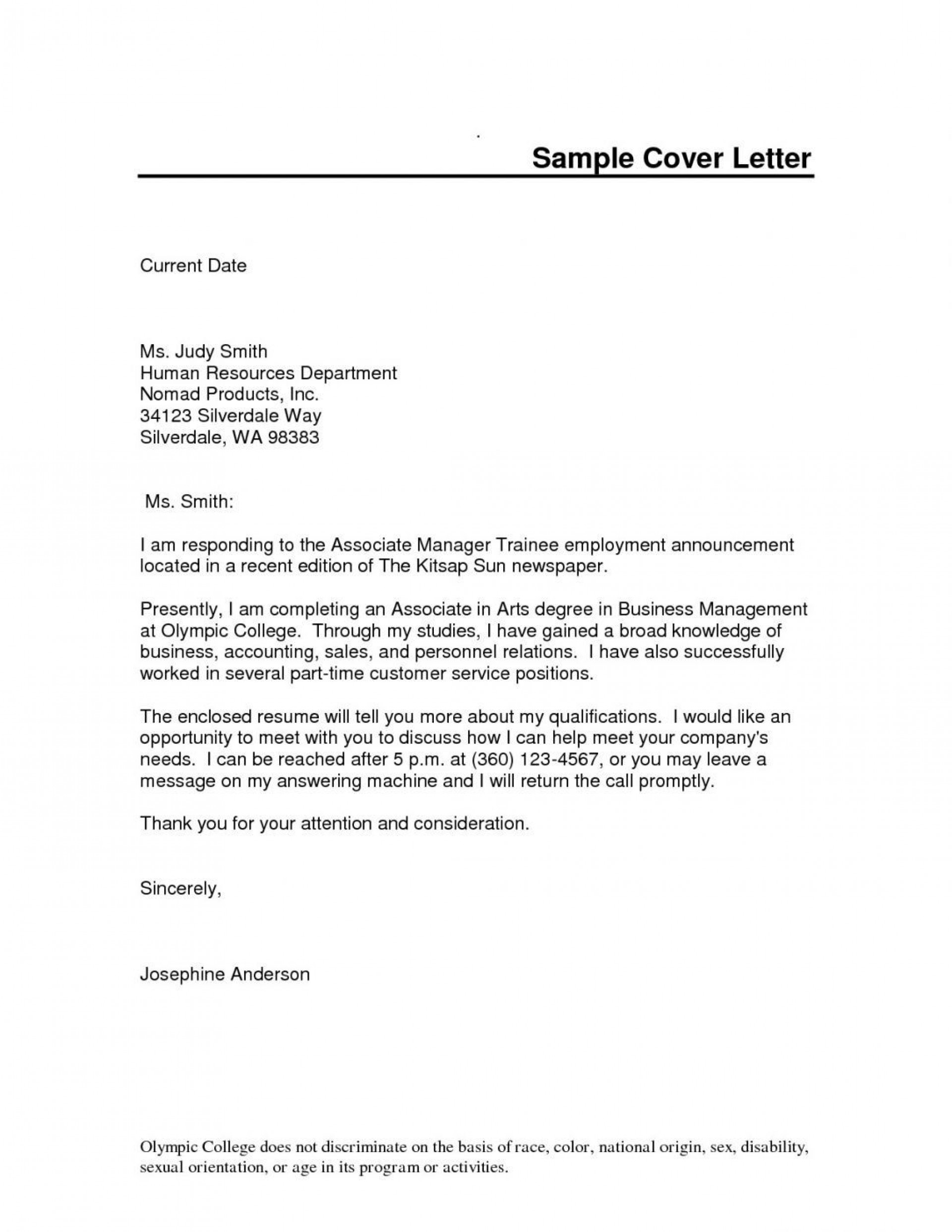 Word Cover Letter Template ~ Addictionary