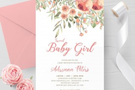 000 Outstanding Baby Shower Invitation Girl Printable High Resolution