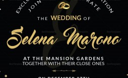 000 Outstanding Black And Gold Invitation Template Sample  Design White Free Printable
