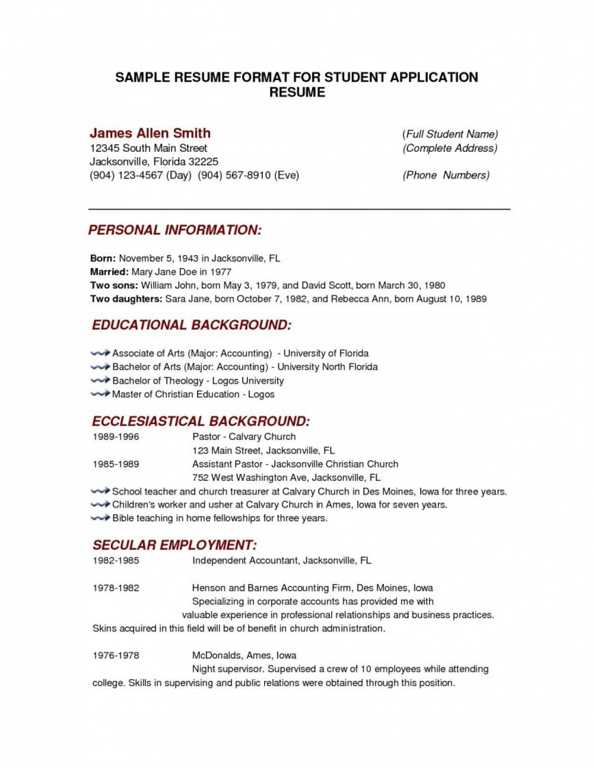 000 Outstanding College Admission Resume Template Highest Quality  Templates App Sample Application Microsoft Word1920