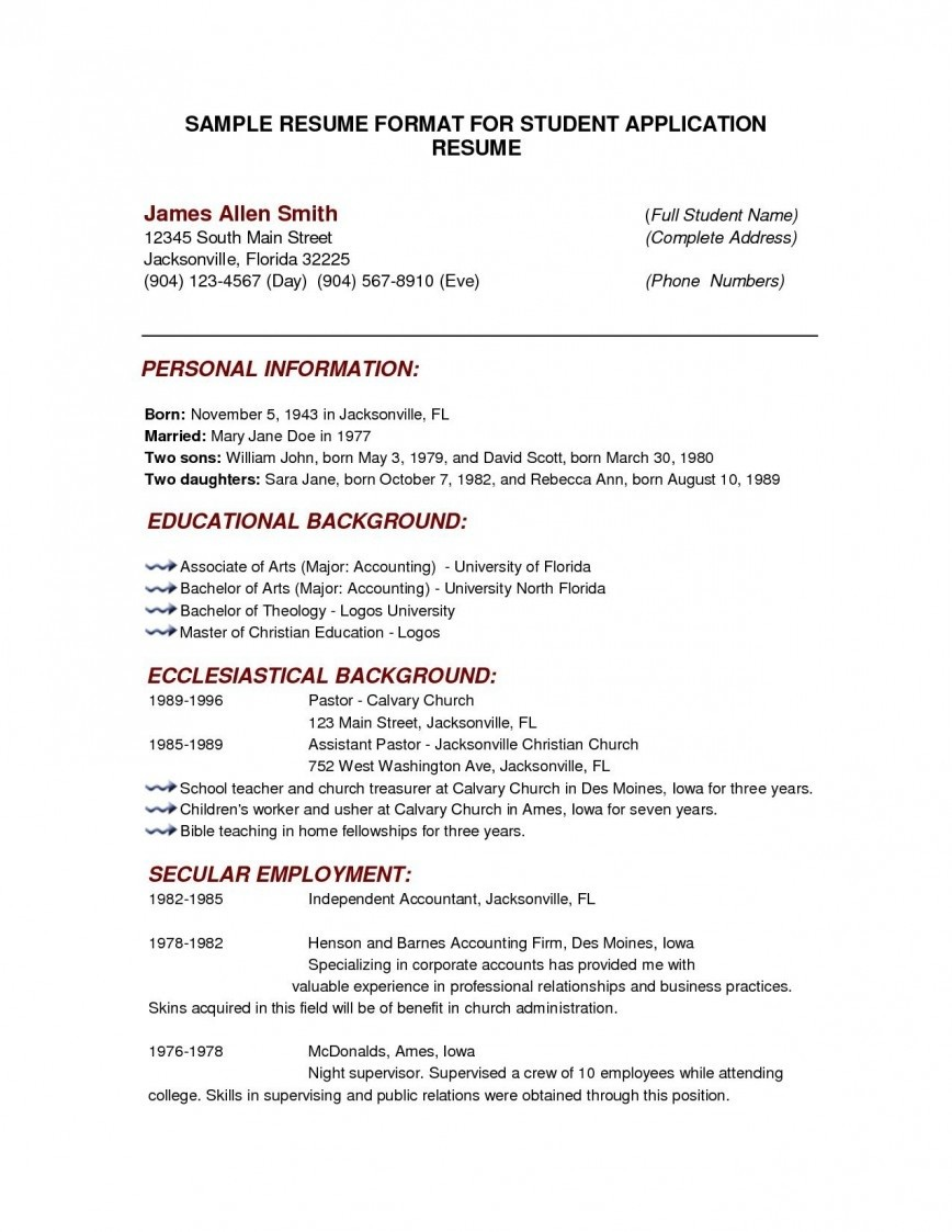 000 Outstanding College Admission Resume Template Highest Quality  Microsoft Word Application Download868