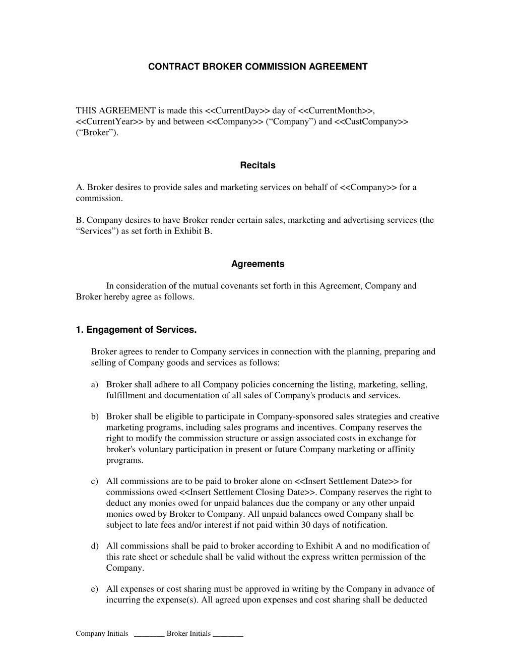 000 Outstanding Commission Sale Agreement Template Free Picture  Word InternationalLarge