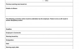 000 Outstanding Employee Warning Notice Template Word Concept