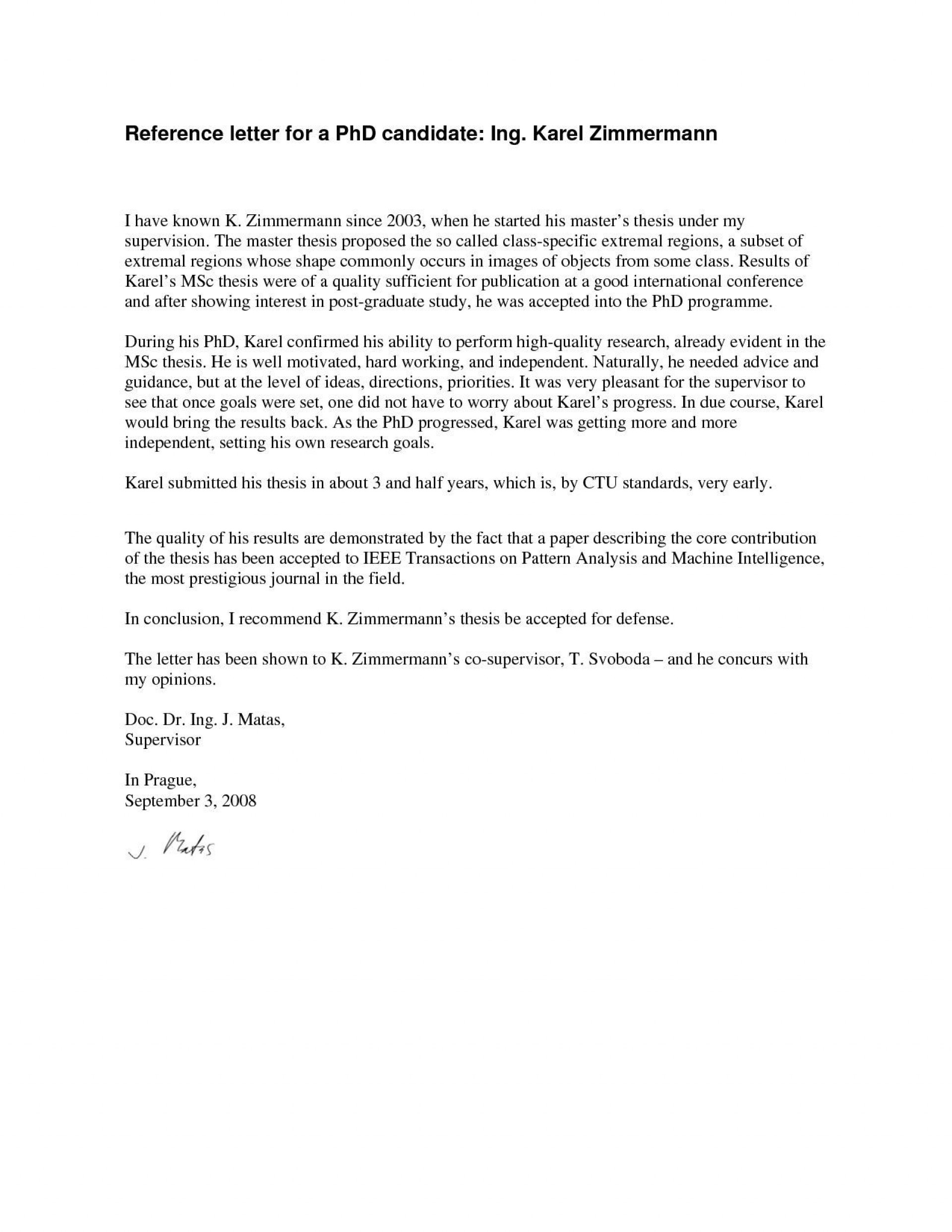 000 Outstanding Example Of Letter Recommendation For Graduate School From Employer Idea  Sample Pdf Grad1920