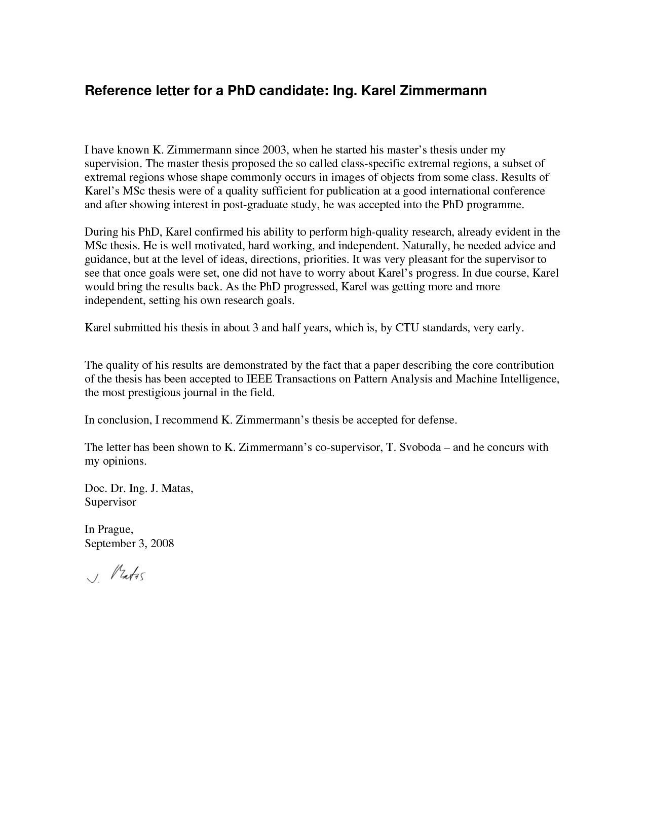 000 Outstanding Example Of Letter Recommendation For Graduate School From Employer Idea  Sample Pdf GradFull