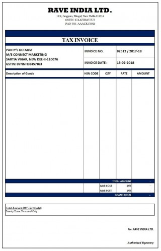 000 Outstanding Excel Invoice Template Gst Free Download Highest Quality 320