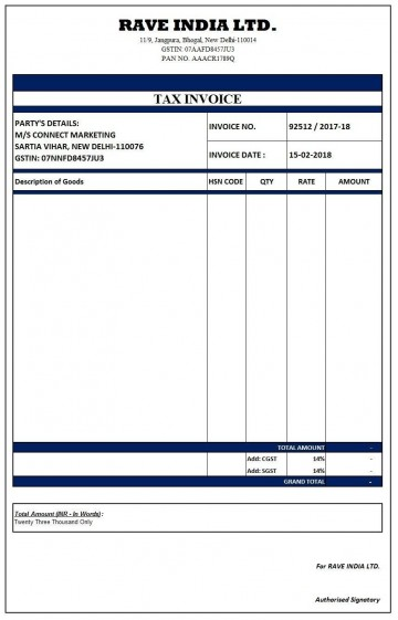 000 Outstanding Excel Invoice Template Gst Free Download Highest Quality 360