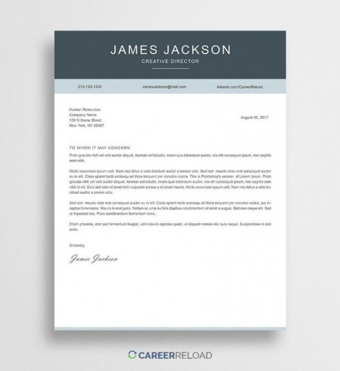 000 Outstanding Free Download Cover Letter Sample High Resolution  For Fresher Pdf Template480
