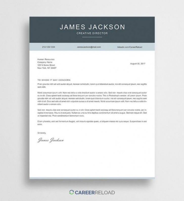 000 Outstanding Free Download Cover Letter Sample High Resolution  For Fresher Pdf Template728