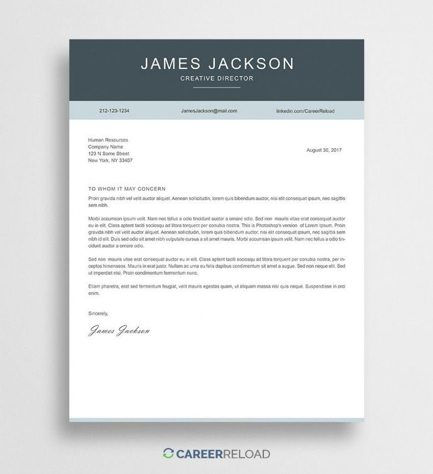 000 Outstanding Free Download Cover Letter Sample High Resolution  For Fresher Pdf Template868