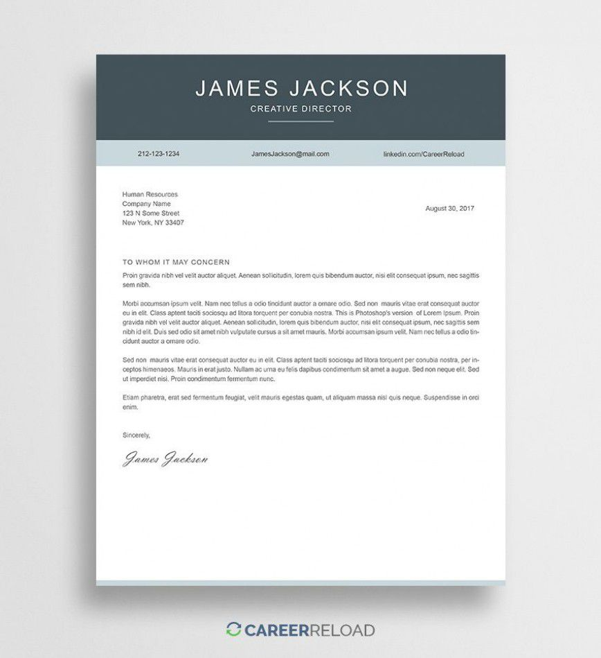 000 Outstanding Free Download Cover Letter Sample High Resolution  For Fresher Pdf TemplateFull