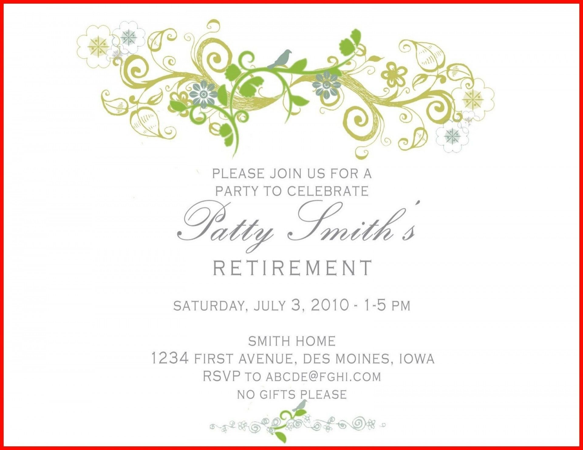 000 Outstanding Free Retirement Reception Invitation Template Image  Templates1920