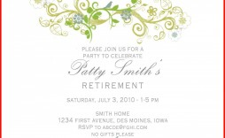 000 Outstanding Free Retirement Reception Invitation Template Image  Templates