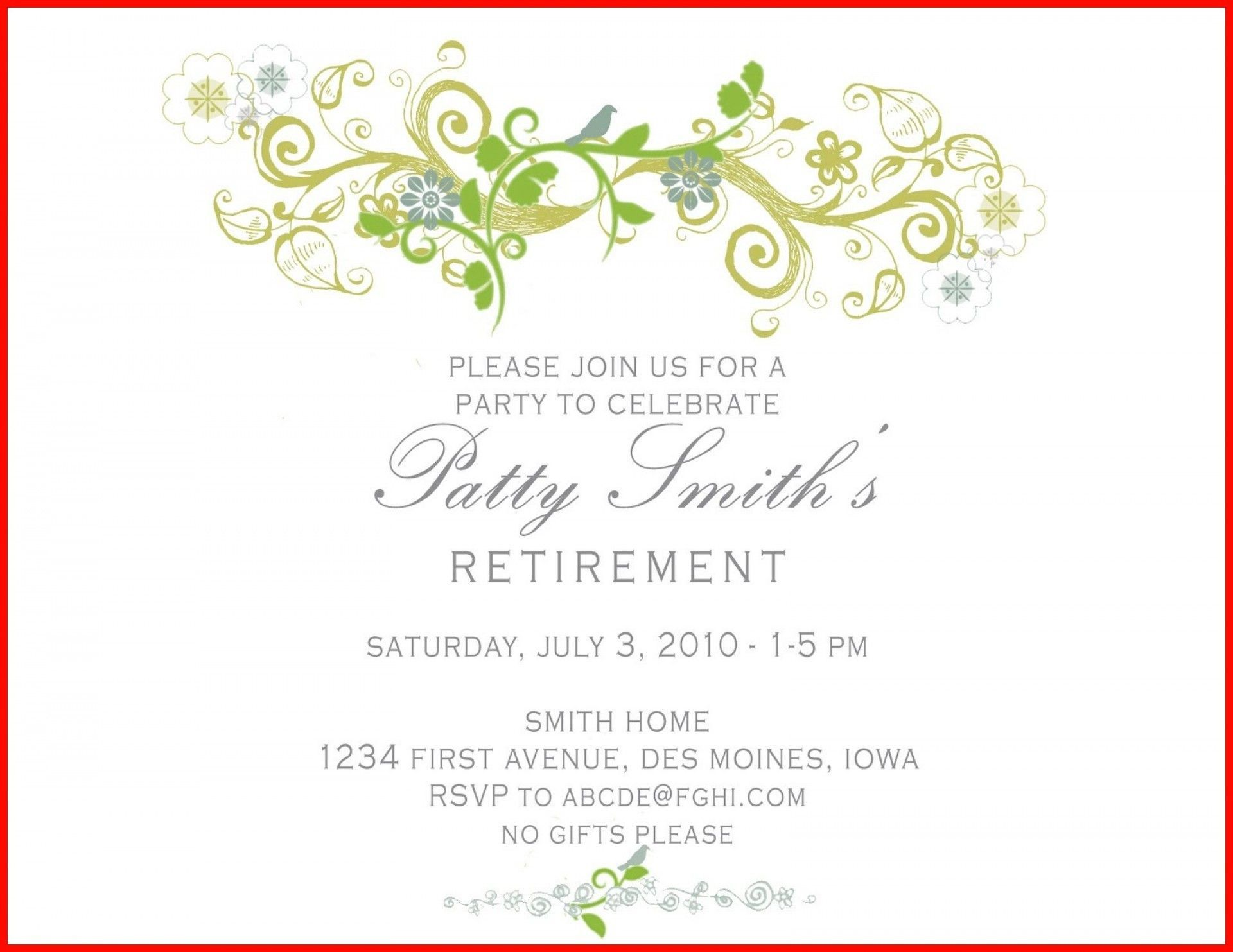 000 Outstanding Free Retirement Reception Invitation Template Image  TemplatesFull