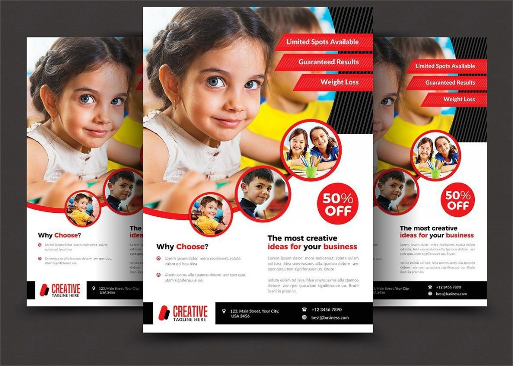 000 Outstanding Free School Flyer Design Template High Def  Templates Creative Education PosterLarge