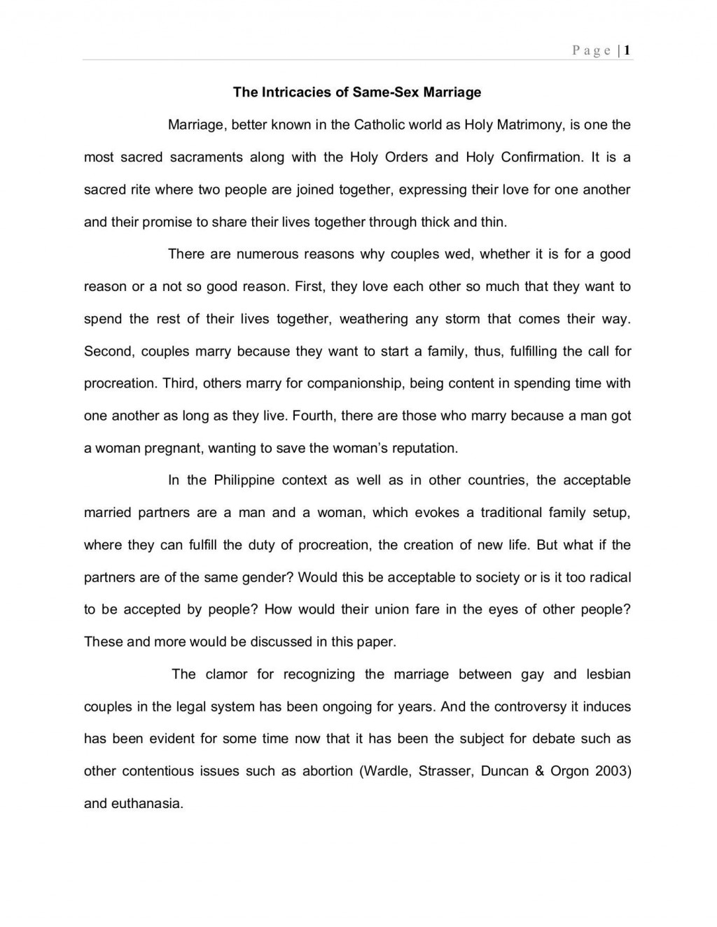 000 Outstanding Gay Marriage Essay Highest Clarity  Example Clever Title ForLarge