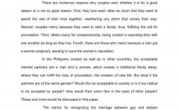 000 Outstanding Gay Marriage Essay Highest Clarity  Example Clever Title For