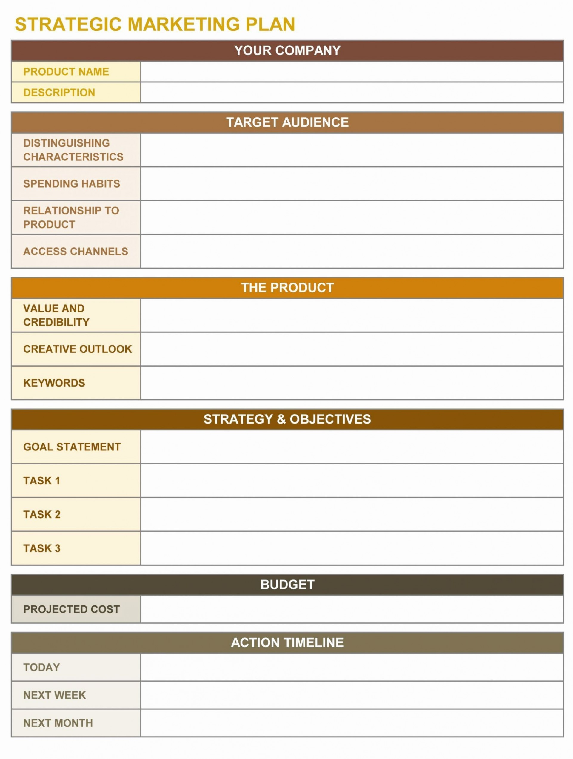 000 Outstanding Marketing Action Plan Template Sample  Ppt Excel Mix Example1920
