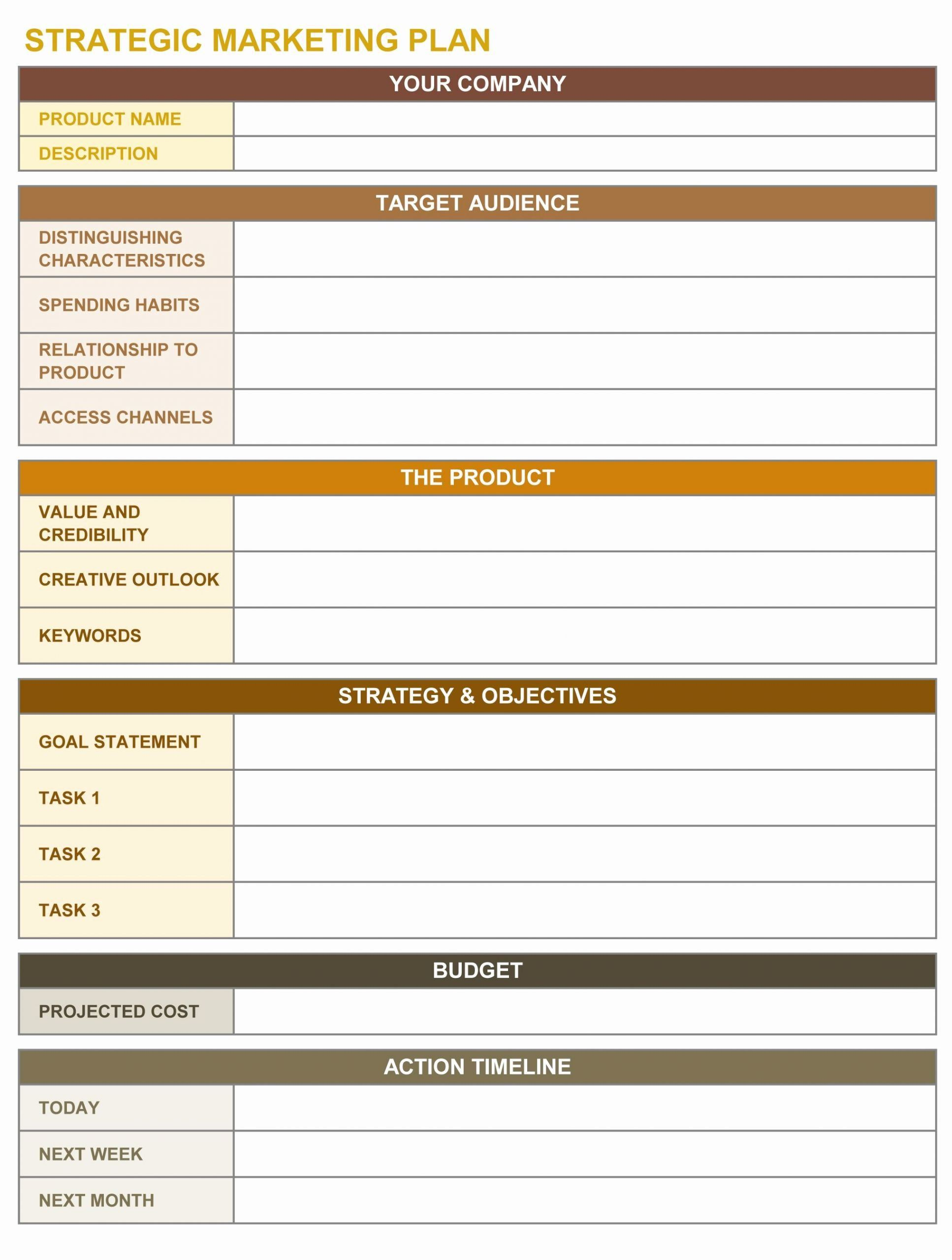 000 Outstanding Marketing Action Plan Template Sample  Ppt Excel Mix ExampleFull