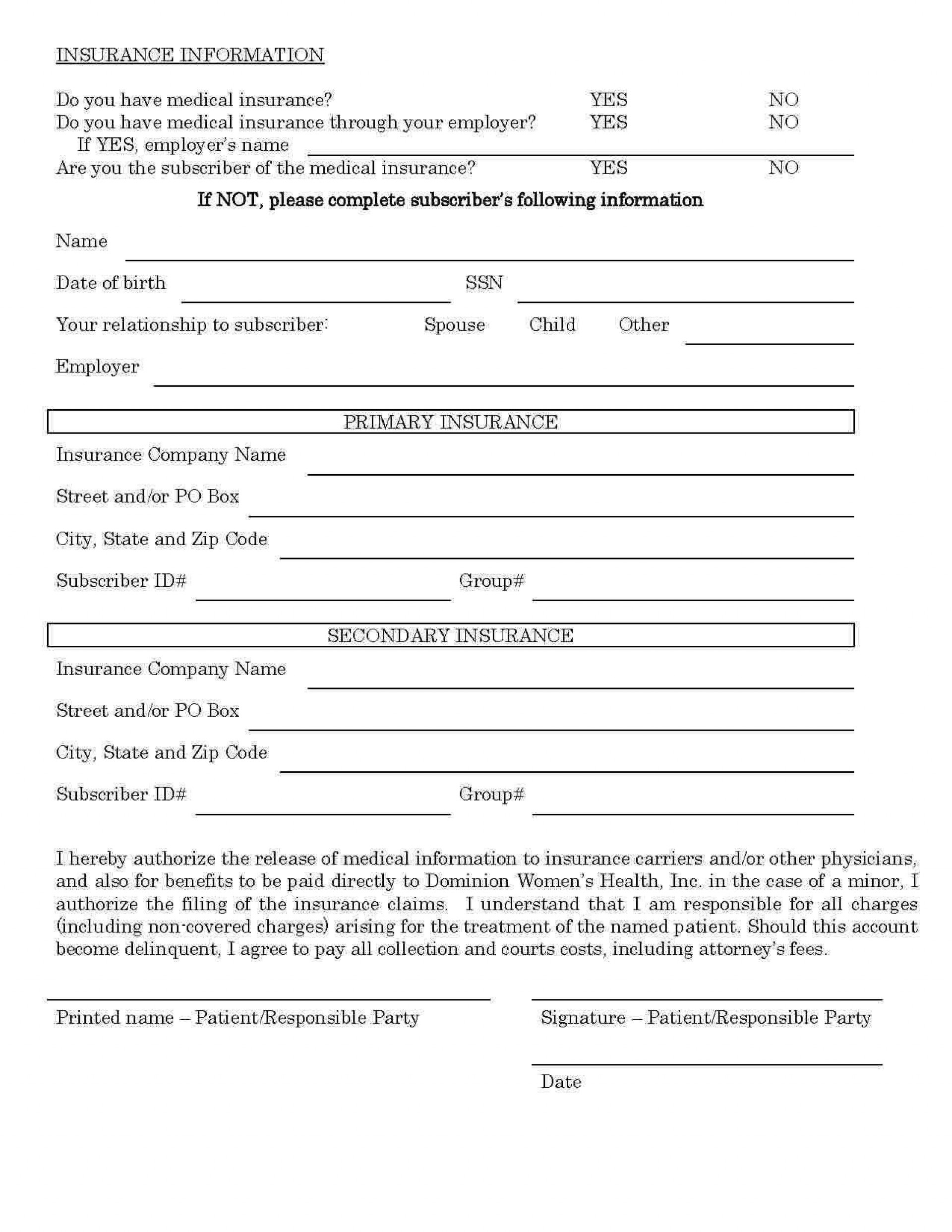 000 Outstanding Medical Record Release Form Template Highest Clarity  Request Free Personal1920