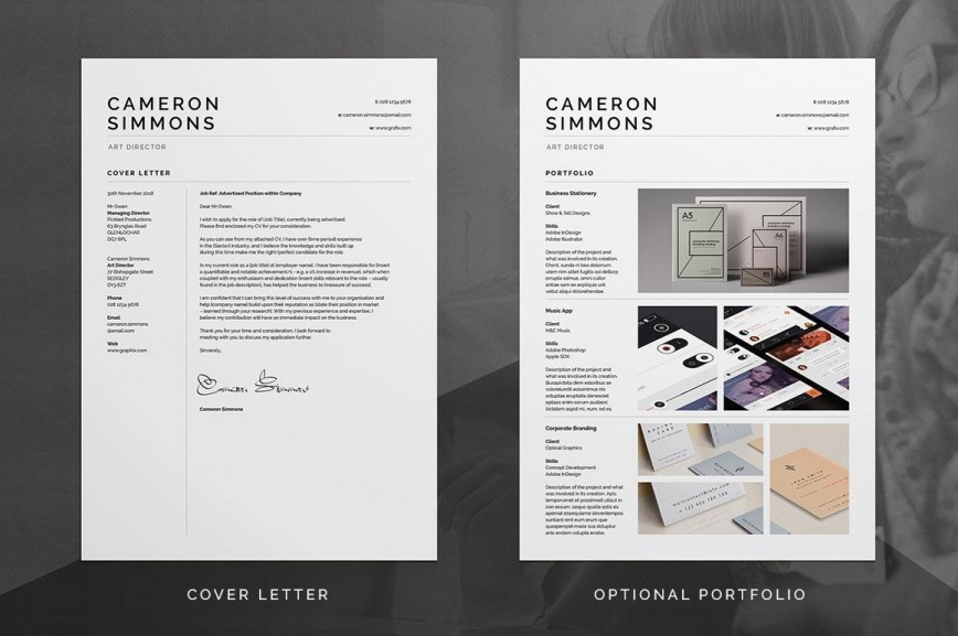 000 Outstanding Microsoft Word Portfolio Template High Def  Career Free Download