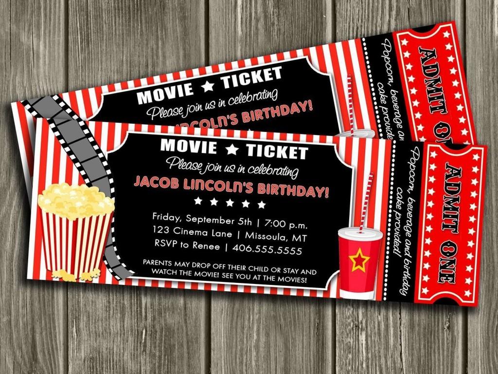 000 Outstanding Movie Ticket Invitation Template Idea  Blank Free Download Editable PrintableLarge