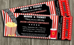 000 Outstanding Movie Ticket Invitation Template Idea  Blank Free Download Editable Printable