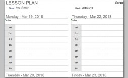 000 Outstanding Printable Lesson Plan Template Weekly Image  Blank Pdf Monthly Free Preschool