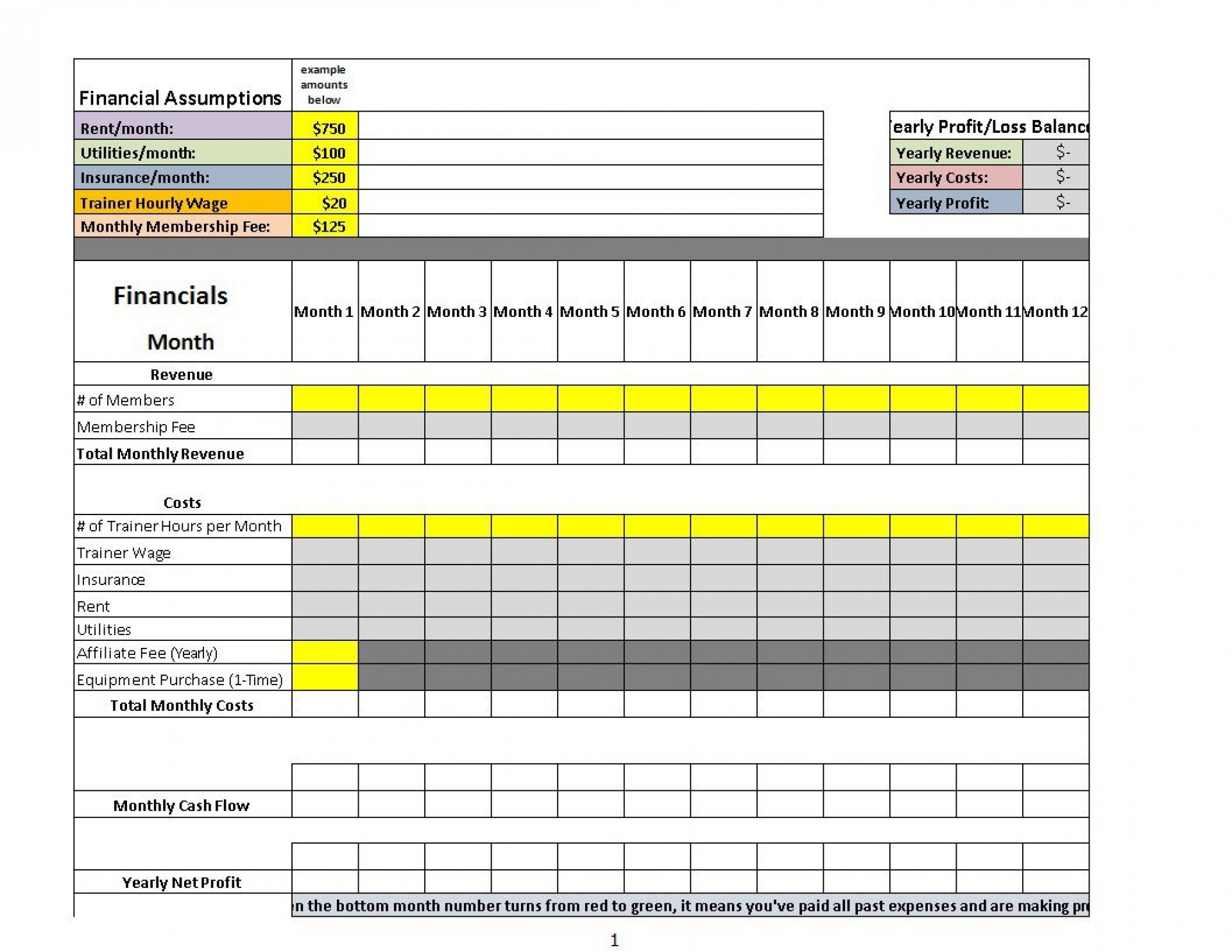 000 Outstanding Profit And Los Excel Template Picture  Monthly Download Restaurant Statement Free Dashboard1920