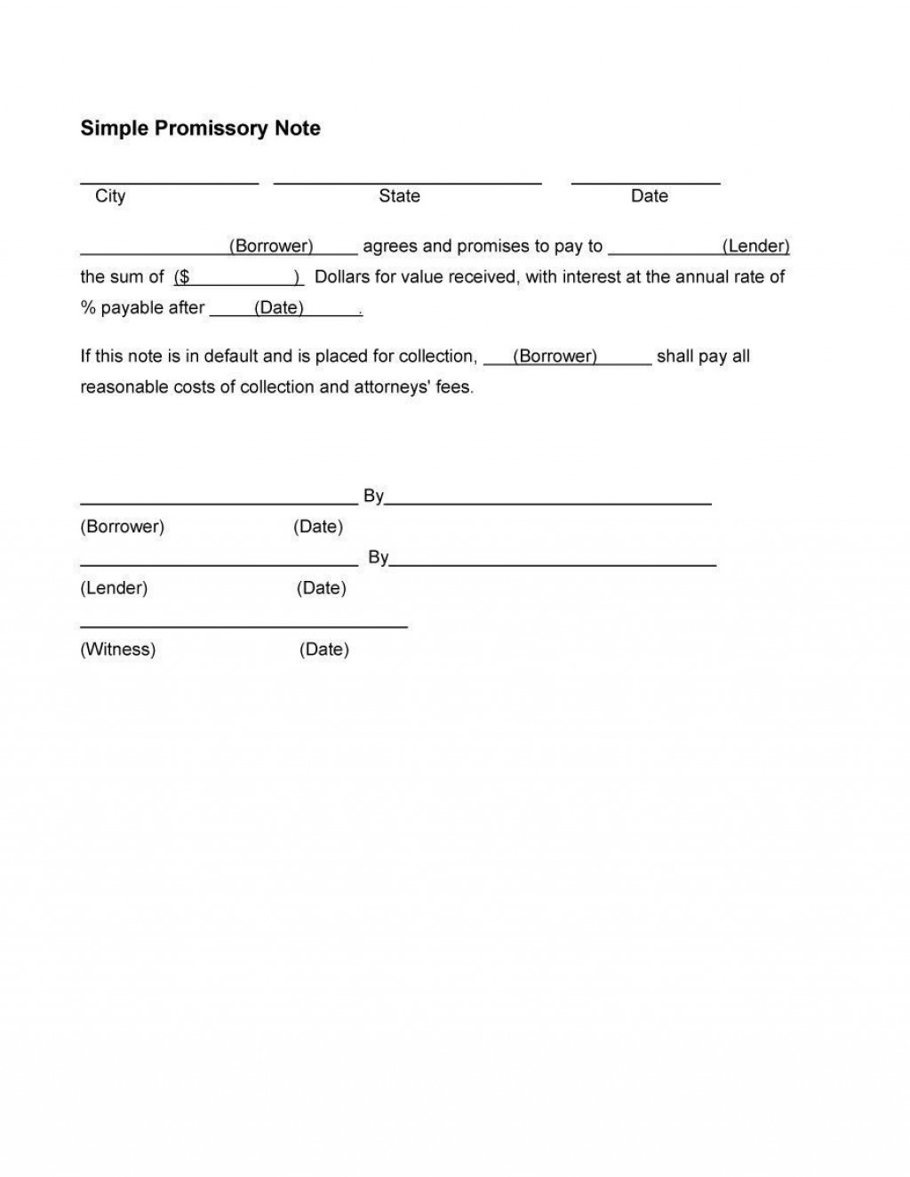 000 Outstanding Promissory Note Word Template Design  2007 Document Uk IndiaLarge