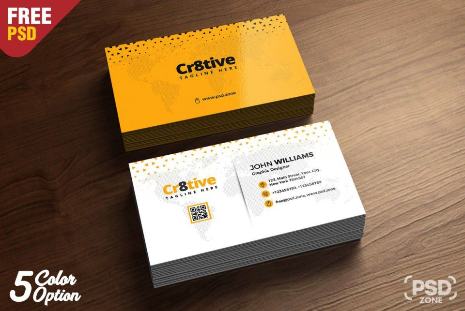 000 Outstanding Simple Busines Card Template Psd Inspiration  Design In Photoshop Minimalist Free960