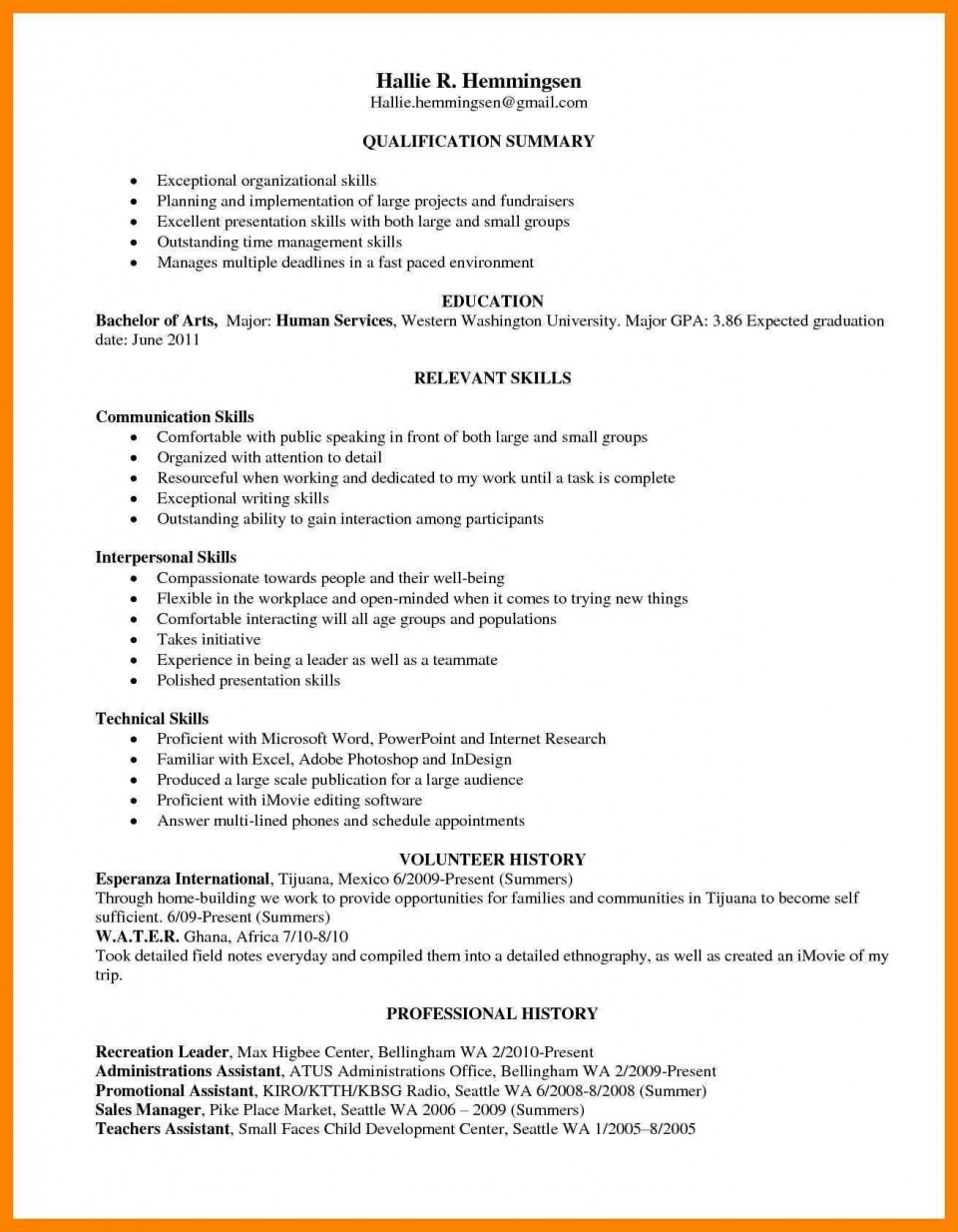 000 Outstanding Skill Based Resume Template Word Idea  Microsoft960