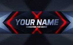 000 Outstanding Youtube Channel Art Template Photoshop Download Example
