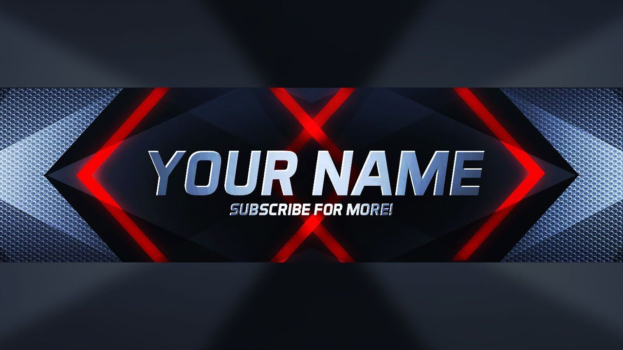 000 Outstanding Youtube Channel Art Template Photoshop Download Example Full