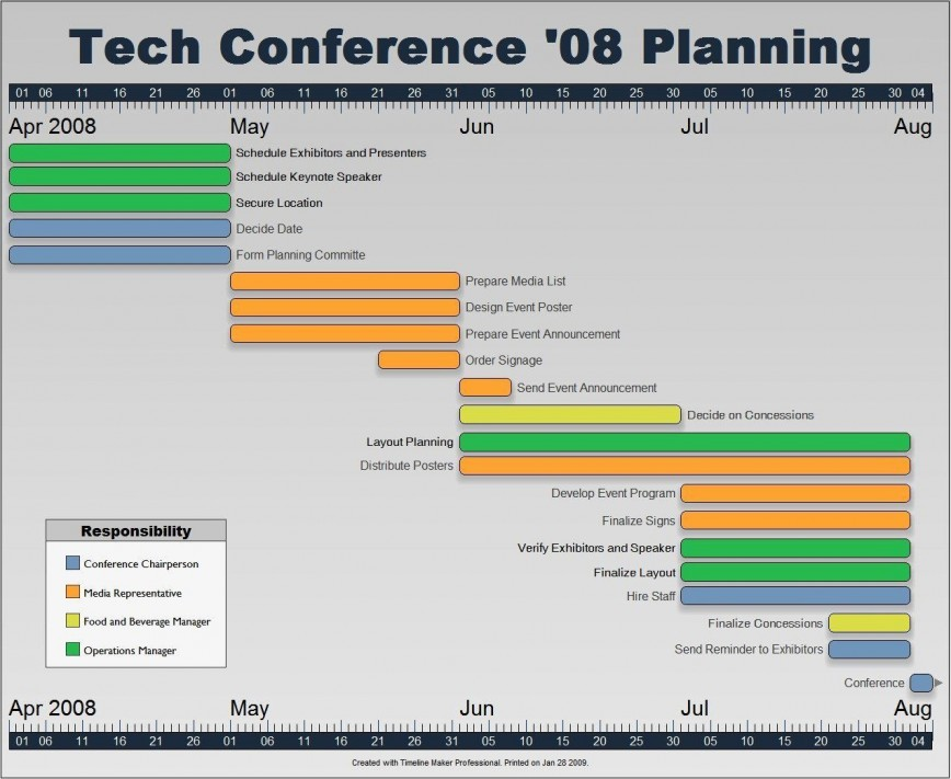 000 Phenomenal Event Planning Timeline Template Example  Free Excel
