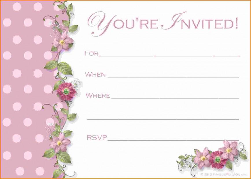 000 Phenomenal Free Birthday Party Invitation Template For Word Idea 868