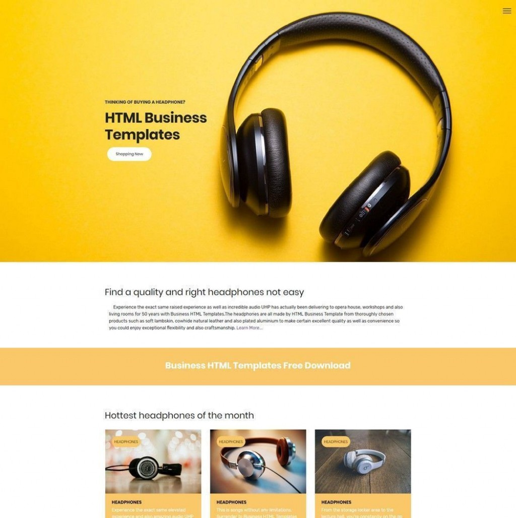 000 Phenomenal Free Html Template Download Busines Example  Business Email Responsive Web And Cs ForLarge