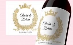 000 Phenomenal Free Wine Bottle Label Template Idea  Mini Printable