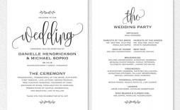 000 Phenomenal Free Word Template For Wedding Program Image  Programs