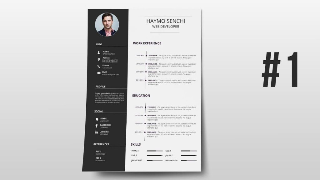 000 Phenomenal How To Create A Resume Template In Photoshop High Resolution Large