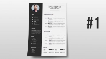 000 Phenomenal How To Create A Resume Template In Photoshop High Resolution 360