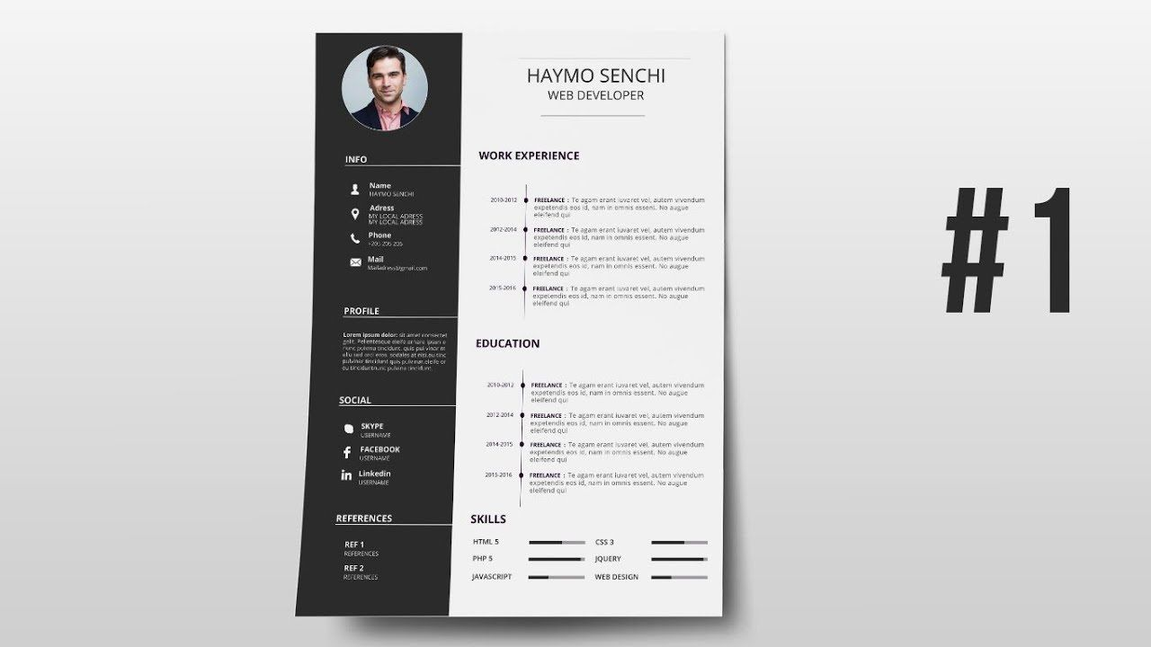 000 Phenomenal How To Create A Resume Template In Photoshop High Resolution Full